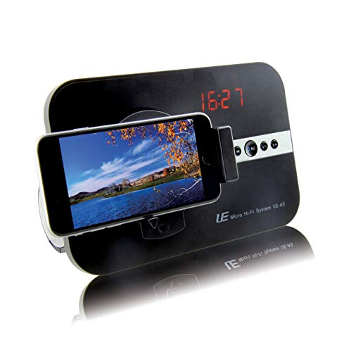 Soundsystem für Apple iPhone X Xs Xr iPhone 8 7 5 5S 6 6S SE Plus ipod Touch 5G iPad Pro iPhone 11 Pro Max mit Uhr Radio USB Schnittstelle Bluetooth Fernbedienung Adapter Hi-Fi Tube schwarz