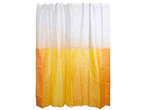 Alsino Duschvorhang Eule 180cm x 180cm Help me Duschabtrennung Textil Badewannenvorhang, Variante wählen:31/4053 Bier