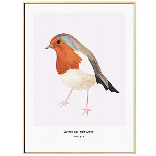 Suuyar vogeltje canvas schilderij schilderij slaapkamer mooie vogels patroon canvas schilderijen voor nordic poster thuis muur decoratie-60x80cm geen frame