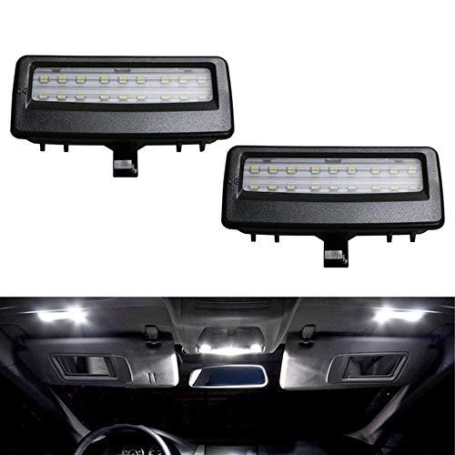 iJDMTOY Black Finish OEM-Fit 3W Full LED Sun Visor Vanity Mirror Lights Compatible With BMW F07 F10 F11 5 Series, F06 F12 F13 6 Series, F01 F02 F03 7 Series