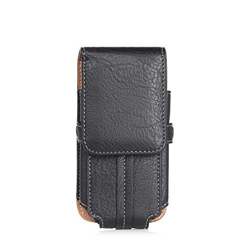 Funda de cuero para iPhone 12 11 Pro Max XS X XR 7 8 6 6s más 5 5S SE funda bolsa cinturón bolsillo