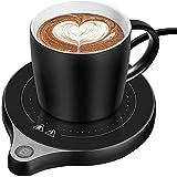 カップウォ ーマー マグカップ 保温 ティーウォーマー 飲み物 保温 加熱 可能 マグカップ スマートコースター コーヒーカップ 卓上用品 電気コンロ ihコンロより軽い おしゃれ コーヒー ギフト 令和3年  (黑)