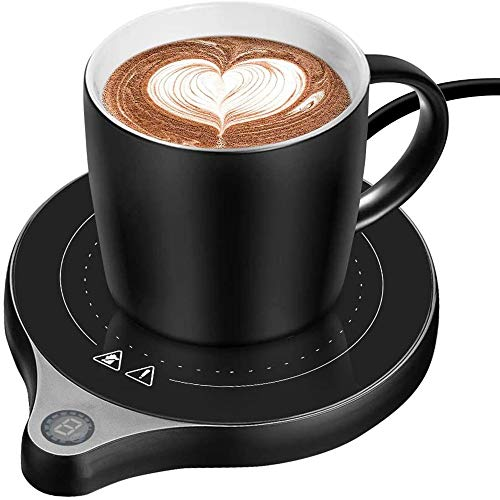 カップウォ ーマー マグカップ 保温 ティーウォーマー 飲み物 保温加熱沸騰可能 マグカップ スマートコースター コーヒーカップ 卓上用品 電気コンロ ihコンロより軽い おしゃれ コーヒー ギフト 令和3年  (黑)