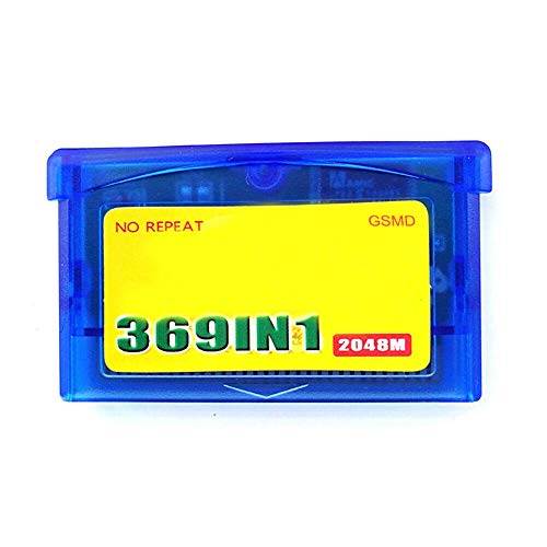 369 in 1 Game Cartridge for GBA Console - Card 32 Bit Video Game Compilations Classic Collection English Version