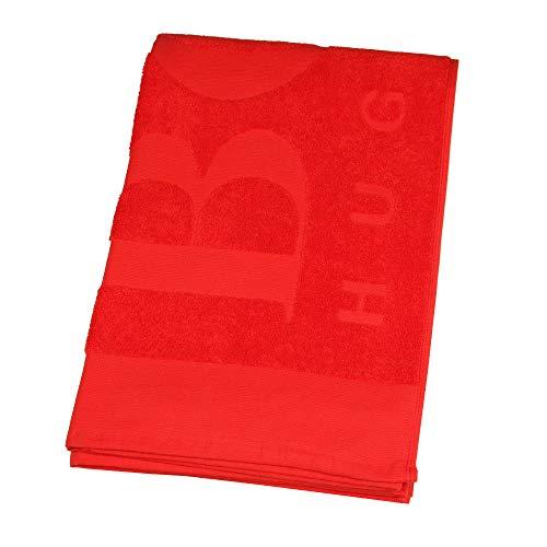 Hugo Boss - Toalla de playa de algodón egipcio, color rojo salmón