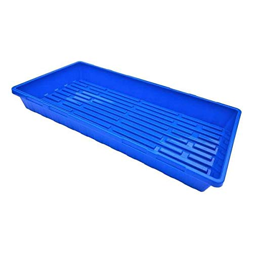 Bootstrap Farmer 1020 Trays, Blue Extra Strength No Hole, 10 Pack, Seedling Tray for Growing Microgreens, Wheatgrass Seeds, Hydroponic Germination, Fodder System