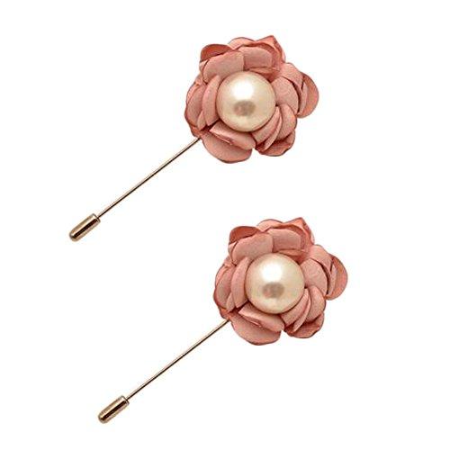 Broches épingle élégante Broches 2PCS broches de colliers de décoration pour dames, Rose