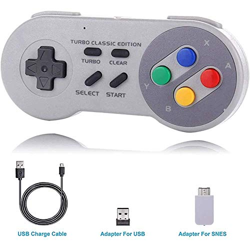 Nologo Xjdmg Classic Controller USB-Spiel-Gaming-Controller Gamepad for Laptop-Computer mit Wireless Receiver