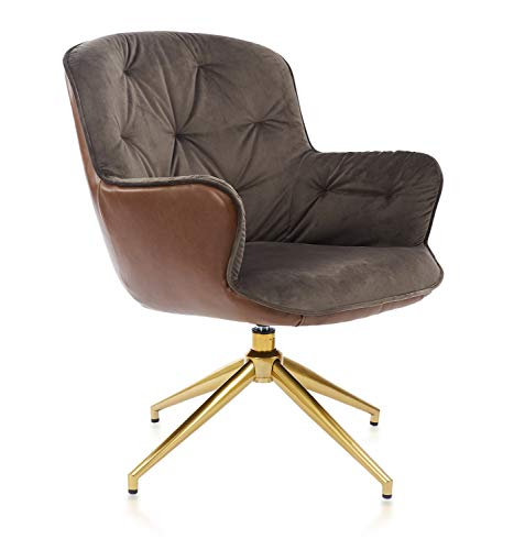 ARTOS Modern Swivel Accent Chair Velvet Lounge with Soft Fabric Seating Cushion and Metal Legs for Home Living Room Bedroom