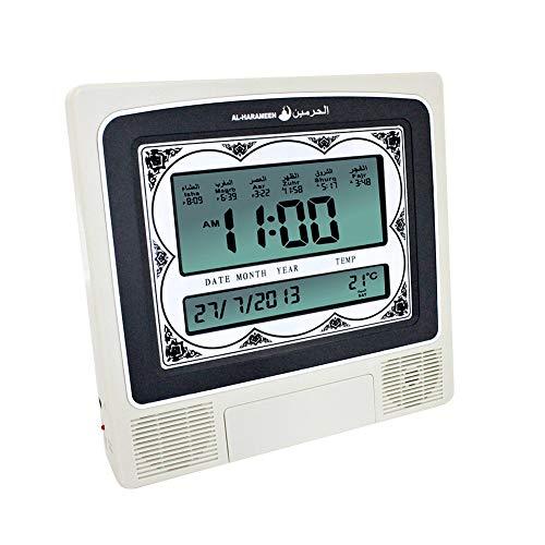 HA-4012 Azan klok, islamitische gebed tijden tafel/wandklok, islamitische digitale wekker voor thuiskantoor Masjid en moskee