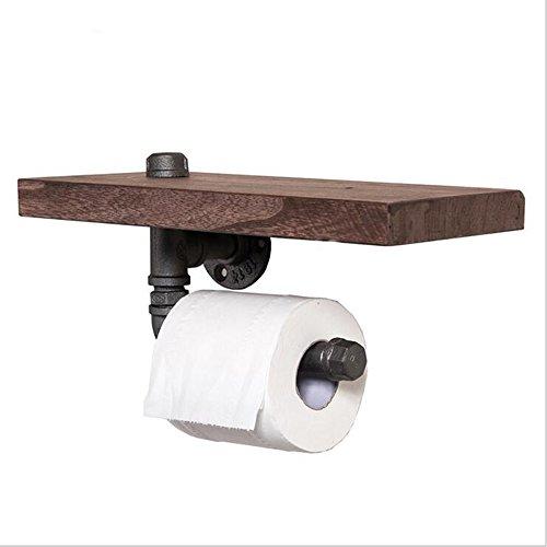 MEIDUO Étagères Étagères créatives Vintage Pipe à eau Porte-papier hygiénique Porte-pipe multifonctionnel très durable