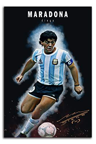 YITUOMO Diego Maradona - Lienzo impreso de 30,5 x 45,7 cm, diseño de jugador de fútbol argentino, para decoración de habitación de niños y niñas, sin marco