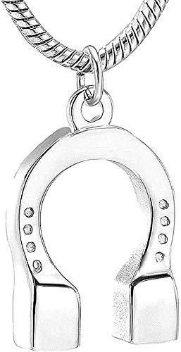 CCXXYANG Co.,ltd Collar Collar De Cadena De Cremación De Herradura De Moda Colgante para NS Colgante para Monumento De Animales Collar De Acero Inoxidable para Mujeres Hombres Regalo De Joyería