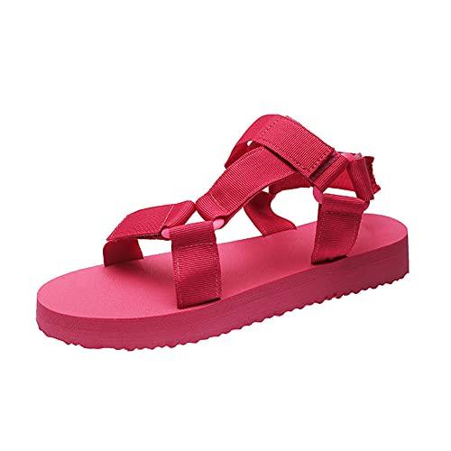 SONGJOY Sandalias de mujer de trekking para mujer, cómodas, para deportes al aire libre, para verano, sandalias de senderismo, planas, transpirables y de secado rápido, color, talla 42 EU
