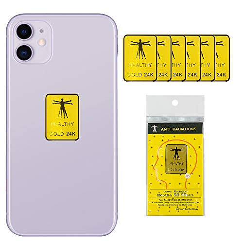6 Stück – EMF-Schutz Handy für Strahlung, Anti-Strahlung, Aufkleber Shield Blocker, Anti-EMF für alle elektronischen Laptops, Handys, Tablets, Fernseher (quadratisch)