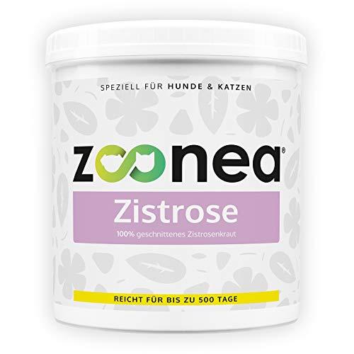Zoonea Zistrose (250g) - Zistrosenkraut für Hunde & Katzen - Ideal bei Spaziergängen - Kann zur Erhöhung des Wohlbefindens führen