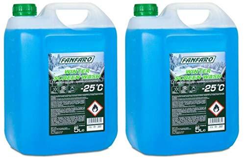 FANFARO Screenwash – 25C All Seasons Winter, 10 litros