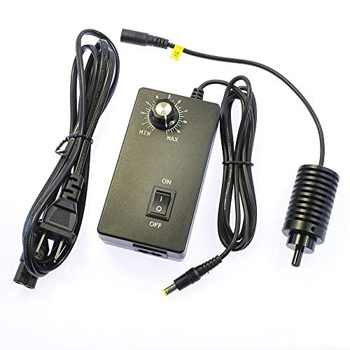 BINGFANG-W 6MM Luz coaxial LED Microscopio Punto de Punto Fuente de luz Illuminador Ajustable Lámpara Brillante 3W 6500K AC100 ~ Adaptador de Corriente 240V Aumento