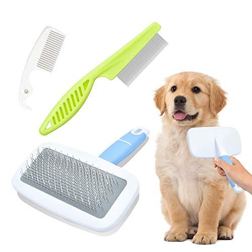 Cepillo Perro Pelo Largo Nudos,Peine Perro Pelo Corto Muerto,Cepillo de Aseo Profesional para Mascotas,Peine de Limpieza para Mascotas,Cepillo de Aseo Para Gatos