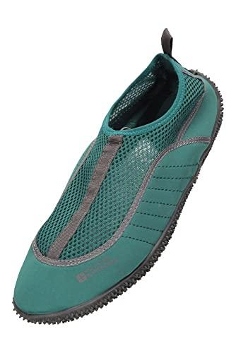 Mountain Warehouse Zapatillas de Agua Hombres Bermuda - Zapatos de Agua Ligeros, Zapatos de Neopreno acuáticos, Forro de Malla - para Caminar bajo el Agua Verde 43