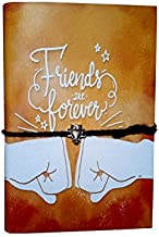 Goonj Creations Handmade Handcrafted Diary Friends Forever - Friendship (20.32X13.97 cm )