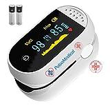 PulsoMedical Saturimetro da Dito Professionale Certificato CE, Pulsossimetro Ossimetro Lettura Immediata Saturazione Ossigeno Sp02, Frequenza, Battito Cardiaco, Indice di Perfusione, Versione 3.0