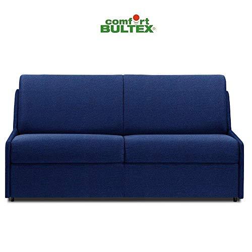 Canapé Convertible rapido COMPACTO Matelas 120cm Comfort BULTEX® Tissu Neo Bleu Cobalt