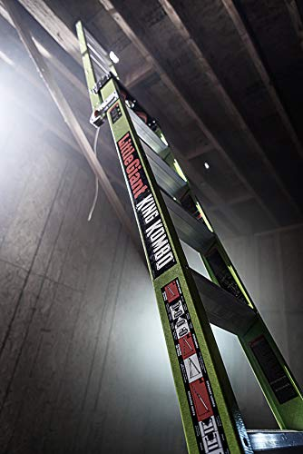 Little Giant Ladders, King Kombo, Technical, 8 Ft. A Frame, 14 Ft. Extension, Ground Cue, V-bar, Sure Set Feet, Fiberglass, Type 1AA, 375 lbs weight rating, (13814-074)