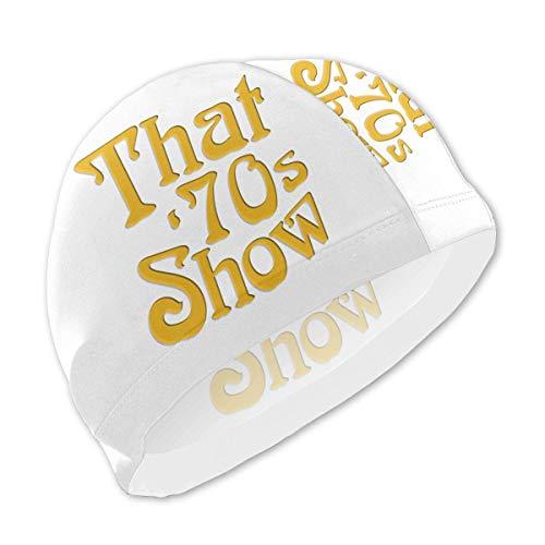 Emonye Badekappe, Badekappe, Badekappe, 70er Jahre Show Kinder Badekappen für Kinder Jungen und Mädchen Baby Badekappen für lange und kurze Haare