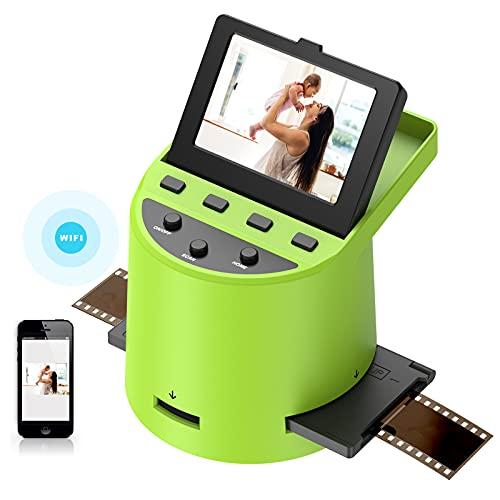 22MP Diascanner Hochauflösender,3,5-Zoll-LC-Display,Konvertiert Super 8 Filme, 35mm Dias und Negative,110 und 126 Film zu Digital JPEG, Unterstützt PC und Mac,sekundenschneller Scanvorgang