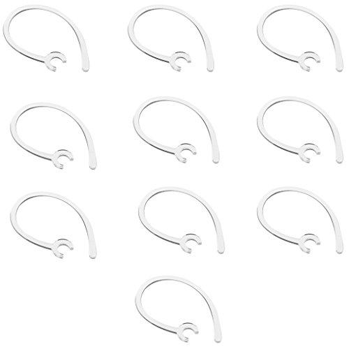 Gazechimp 10 Ganchos de Orejas Recambios para Auriculares Bluetooth Hebillas - Claro 5.6mm