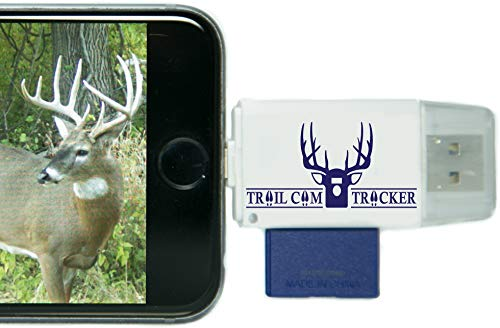 Trail Cam Tracker SD Card Reader for iPhone & Android – Best & Fastest Game Camera Viewer – Deer Hunting Smartphone Memory Card Player - Free Case- Hunt Big Bucks (iPhone (All-in-one Version))