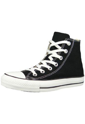 Converse Chuck Taylor All Star Shoes (M9160) Hi Top in Black, Size: 5 Mens / 7 Womens, Color: Black