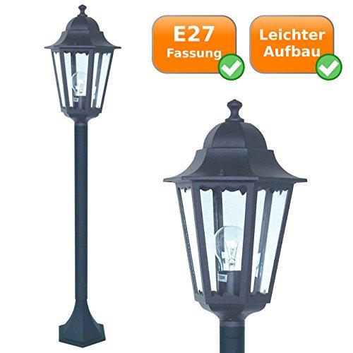 ALU & glas design buitenlamp - padverlichting/vloerlamp voor E27-lampen tot 60 Watt - spatwaterdicht conform IP44