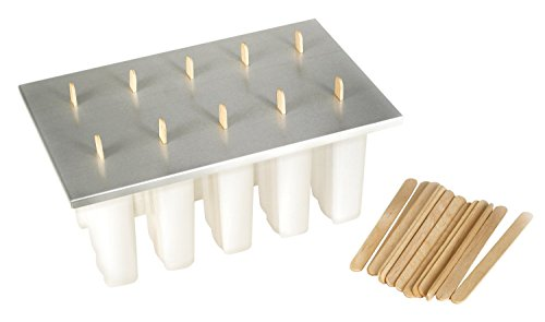 Fox Run Frozen Popsicle Maker Eiswürfelform, Kunststoff, BPA-frei, with 24 Sticks