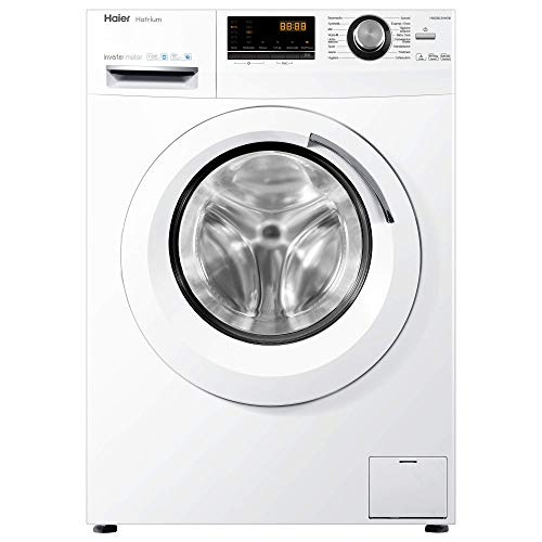 Haier HWD80-B14636 Waschtrockner / A / 1080 kWh/Jahr /1400 UpM / 8 kg Waschen / 5kg Trocken / Endzeitvorwahl / AquaProtect