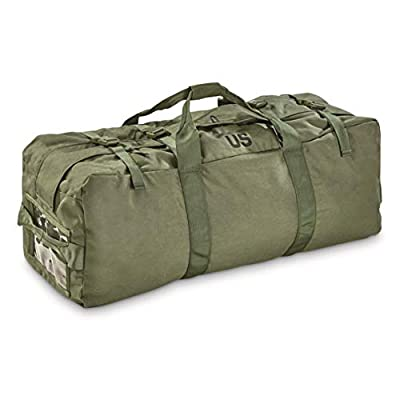Surplus U.S. Military Zip Duffel Bag, Like New, Olive Drab