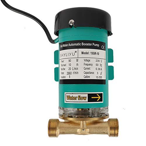 SHYLIYU Bomba de Agua Bomba de Circulación Bomba de Agua Caliente Bomba de refuerzo Bomba de Presión de Agua CasaUtilizado Para el Hogar Lavadora Sistema Solar etc 90W 1200l / H 10m Altura