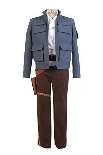 Bilicos Empire Strikes Back Han Solo Chaqueta Traje de Cosplay Disfraz Hombres Caballeros L