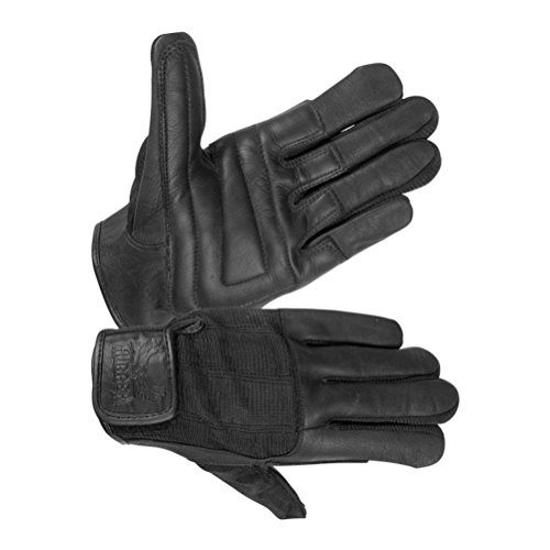 Hugger Glove Company Men's Summer Touring Spandex and Leather Motorcycle Gloves X-Large Black