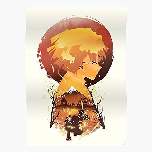Meliodas Samurai Katana Nezuko Ninja Nanatsu Inosuke Tanjiro Home Decor Wall Art Print Poster ! Home Decor Wall Art Print Poster !