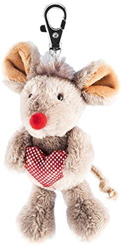 Schaffer 234 Plüsch-Schlüsselanhänger Maus mit Herz