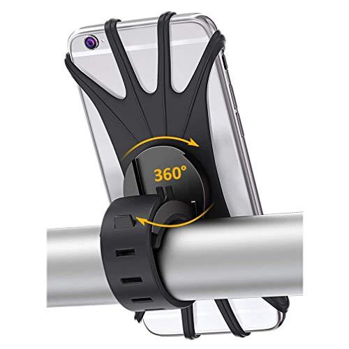 Handyhalterung Fahrrad Universal 360 Grad Drehen Motorrad Handyhalterung Fahrradhalterung für 3,5-6,5 Zoll Smartphone, Kompatibel mit iPhone 12 / iPhone 12 pro