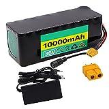 FJYDM Bateria Bicicleta Electrica 36V 10AH, Batería Eléctrica De Litio con Cargador, Batería Ebike para Motores De 500W 350W 200W