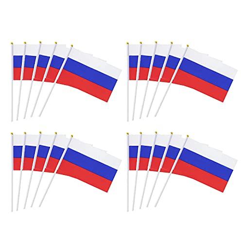 Banderas de la Eurocopa 2021, 20 unidades, resistentes a la intemperie y con ojales de latón en diferentes tamaños, 14 x 21 cm