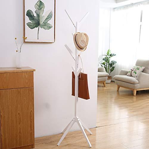 LDJUU Verticale kapstok en hoedenrek, hoedenrek haak voor hal garage kantoor slaapkamer kast gratis staand, kantoor ingang