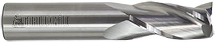 CGC Tools GMA18F3 Gorilla Silverback - Fresa de punta cuadrada de carburo para aluminio, punta plana, 3 flautas, diámetro de 1/8 pulgadas, 1/2 pulgada LOC, 1-1/2 pulgadas OAL