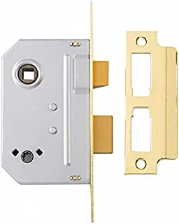 Yale P-M246-PB-63 2 Lever Mortice Sashlock, Visi Pack, Suitable for Internal Doors, Brass Finish, 2.5 Inch/64 mm
