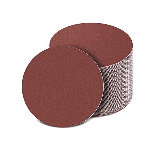 150mm Schleifscheiben, 50 Stück Exzenter Schleifpapier Schleifblätter Set für Holz Holzwerkstoffe Spanplatte Metall 60 100 150 320 600 Körnung