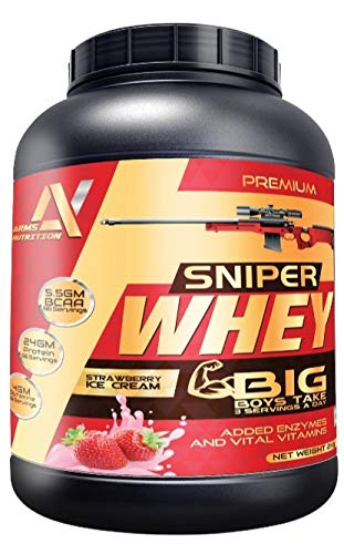 Arms Nutrition Sniper Whey Protein With Multi-Vitamins 2Kg Jar (Strawberry...